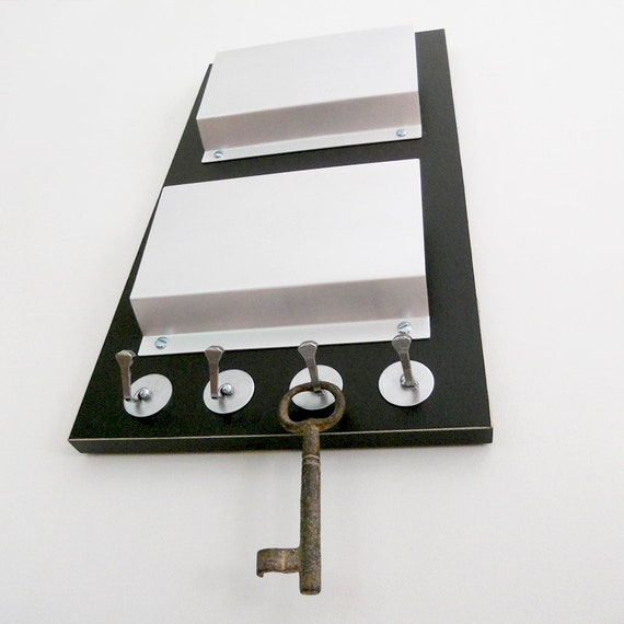 Wall decor night black modern wall mount mail by pigandfish - Wall mount mail and key rack ...
