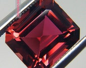 RESERVED 4.79ct Red Tourmaline. Flawless Emerald Step Cut Natural Untreated Sourced in Switzerland - Engagement Ring Ready - COLLECTOR GEM