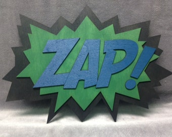 LARGE Comic Book ZAP Quote Wall Art/Plaque
