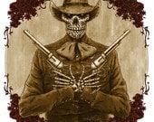 Day of the Dead Pistolero Art Print - Folklorico