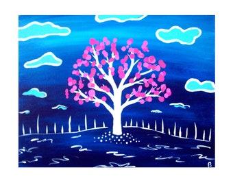 Drop Tree 27 Art Print on Cardstock