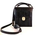 French Vintage Texier leather messenger bag