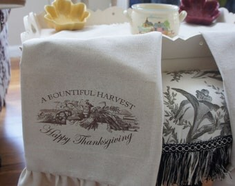 Harvest Thanksgiving Fall Tea Towel