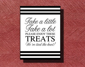 Wedding Reception Candy Bar/Buffet Sign or Poster