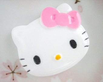 1pc - LL Pink Bow Kitty Decoden Cabochon (40x47mm) HK10002