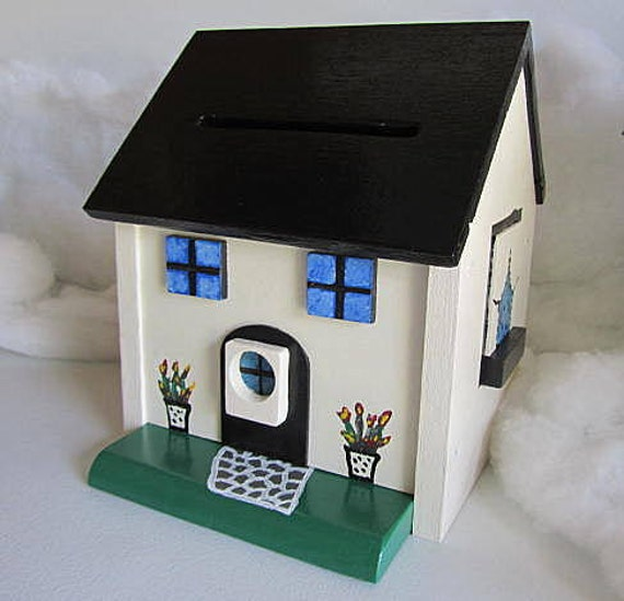Wedding Card Holder Birdhouse Reception Donation Card Box