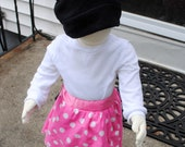 Modern Minnie Mouse Inspired Costume- pink and white polka dot