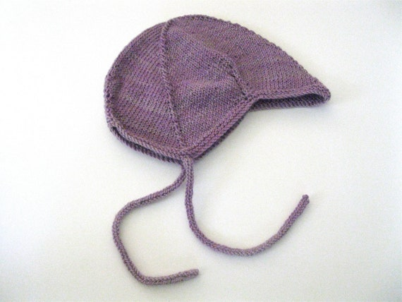 100% Wool Baby Hat in Lilac