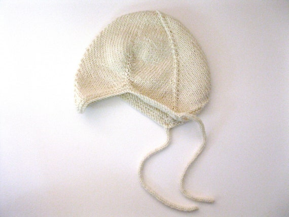 Custom Listing for Marilyn G.--100% Wool Baby Hat in Cream