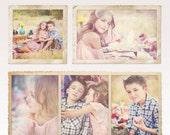 INSTANT DOWNLOAD Divine Vintage Paper Frames - Hi Res .png files and photoshop file templates