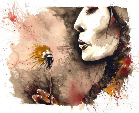 Indian Summer. Giclée on high-quality watercolor paper - signed by the artist 11x14