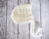 Crochet Baby Bonnet Vintage Style PDF Pattern/ Dowload newborn, 0-3m, 3-6m, 6-12m, 12m-2T