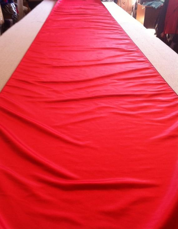 Custom Made Aisle Runner Matte Satin 36 Inches Wide 50 Feet Long Red Satin