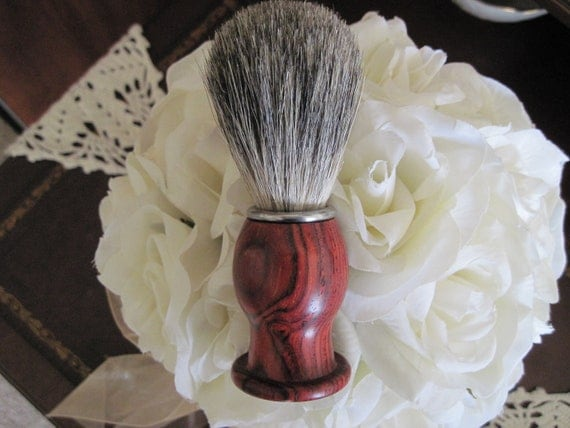 Cocobolo Wood Hand Turned Badger Hair Shaving Brush