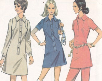 Dress Tunic and Pants Size 14 bust 36 uncut sewing pattern from 1970 McCalls 2280