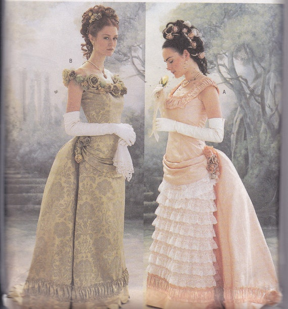 Making History Sewing Pattern uncut Size 12 14 16 bust 34 36 38 victorian gown detachable train and bustle