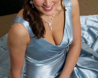 Bridal earrings, Rhinestone earrings, Wedding jewelry, Chandelier earrings, Long Dangle earrings