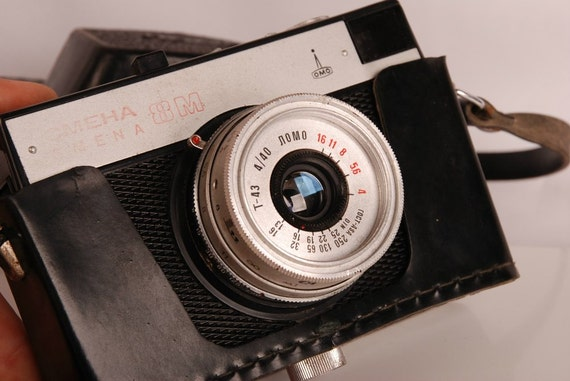 SMENA 8M LOMO Scale VINTAGE Compact Soviet Russian 35mm Film Camera Lomography