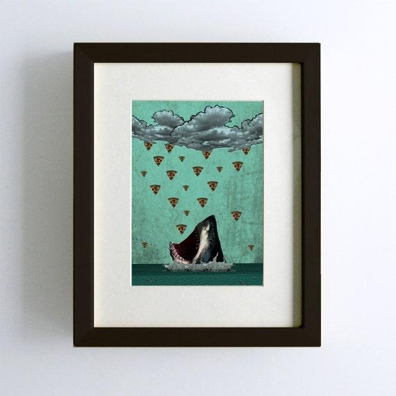 Pizza Shark Print
