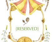 Reserved: Custom Wedding Illustration for S. Shaw