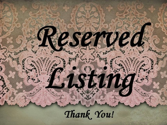 Reserved listing for 90lira