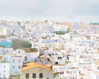 Spain photograph- El Sueno - white village in Spain, blue and white fine art photography