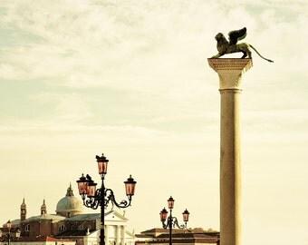 Venice Photography - The Lion of Venice - 8x10 - fine art photography