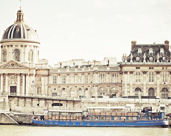 Paris Photography, fine art photograph of white buildings in Paris, Breakfast in Paris, 8x10