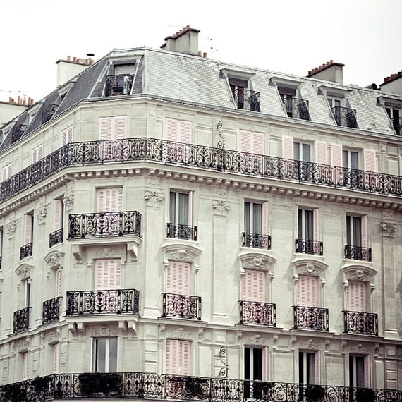 Paris photography, Champagne in Paris, fine art photography of building in Paris, white,pink