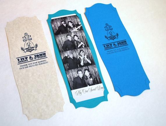 Photo Booth Frame Card Strip Wedding Party Favor Anchor/Sea Theme