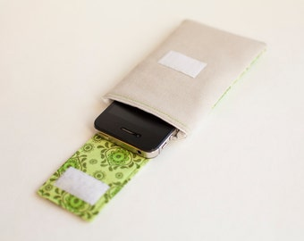 iPhone 4 Case - Lime Green iPhone Sleeve - Lime Green Gadget Case by Di Nuovo