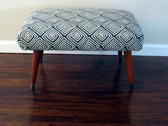 mid-century vintage footstool