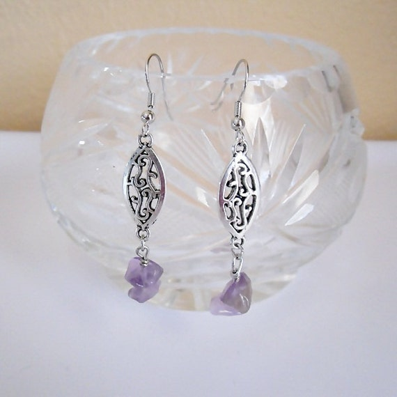 Amethyst / Silver Earrings