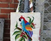 Vintage Crewel Parrot Bag - Bifftastica