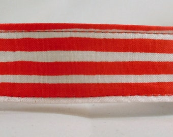 Dog Collar, Martingale Collar, Cat Collar - All Sizes- Ready Set Snow in Red