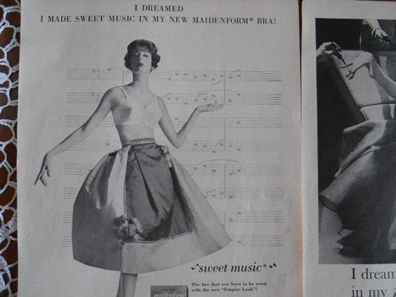 Maidenform Bra Ads From 1950's Magazines - 3