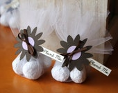 Brown and Lavender Wedding Favours | Daisy Themed Wedding Favours | Guests Gifts | Plantable Wedding Mementos | Party Favours