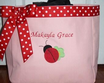 Personalized Ladybug Baby Diaper bag Tote Bag