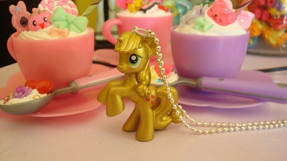 My Little Pony Apple Jack Limitied Metallic Edition Assembled Kawaii Necklace Gold