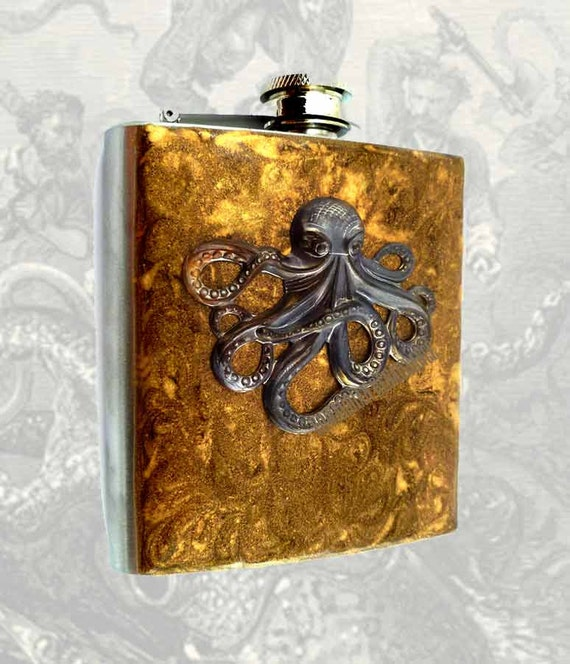 Hand Painted Stainless Steel Flask
