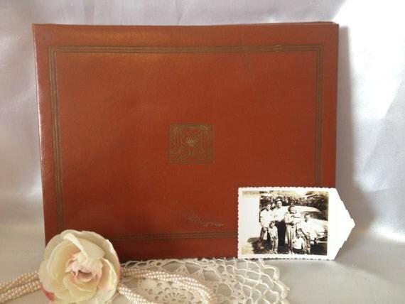 Vintage Photo Album Wedding Guest Book Scrapbook