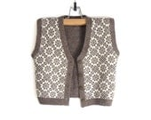 Knitted Baby Vest - Brown, 3-4 years