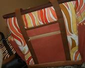 open tote medium bag vintage fabric