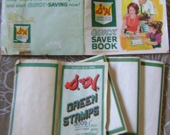 vintage S & H  Green Stamp books
