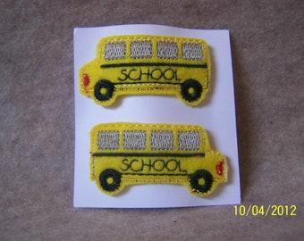 School Bus Snap Barettes