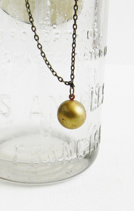 Vintage Rosemary's Locket on Chain Necklace