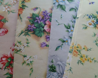 1 Sheet Gorgeous Vintage Flowered Wrapping Paper