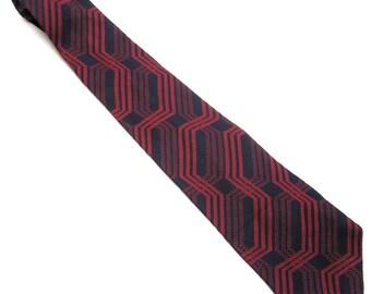 """Red Blue Necktie 4"""" Wide Tie Aramis"""
