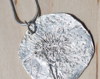 Fine Silver Dandelion Wish Necklace (2)