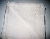 Vintage Wedding  Napkins with Embroidery In Set of Five for Home Decor Weddings Luncheons Showers